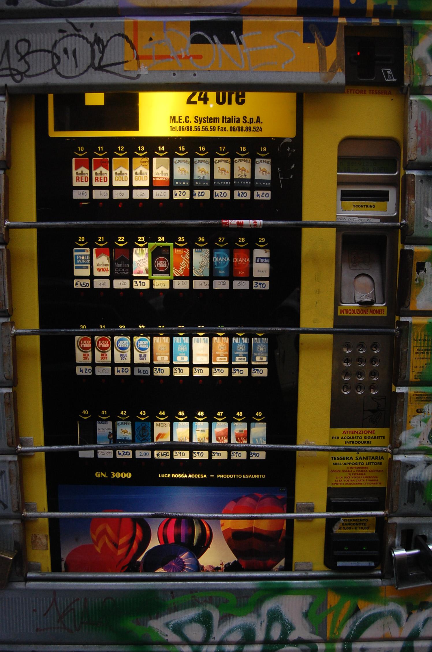 protein bar vending machine