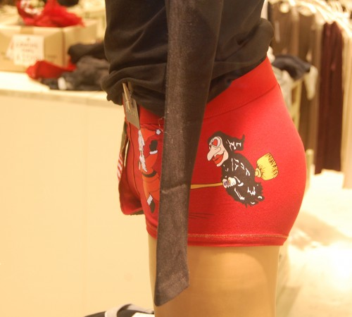 italian red underwear with la befana for new years eve in Italy