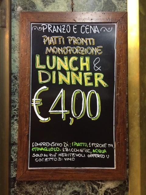 4 euro pasta in Rome