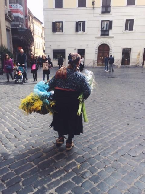 Women's day mimosa seller