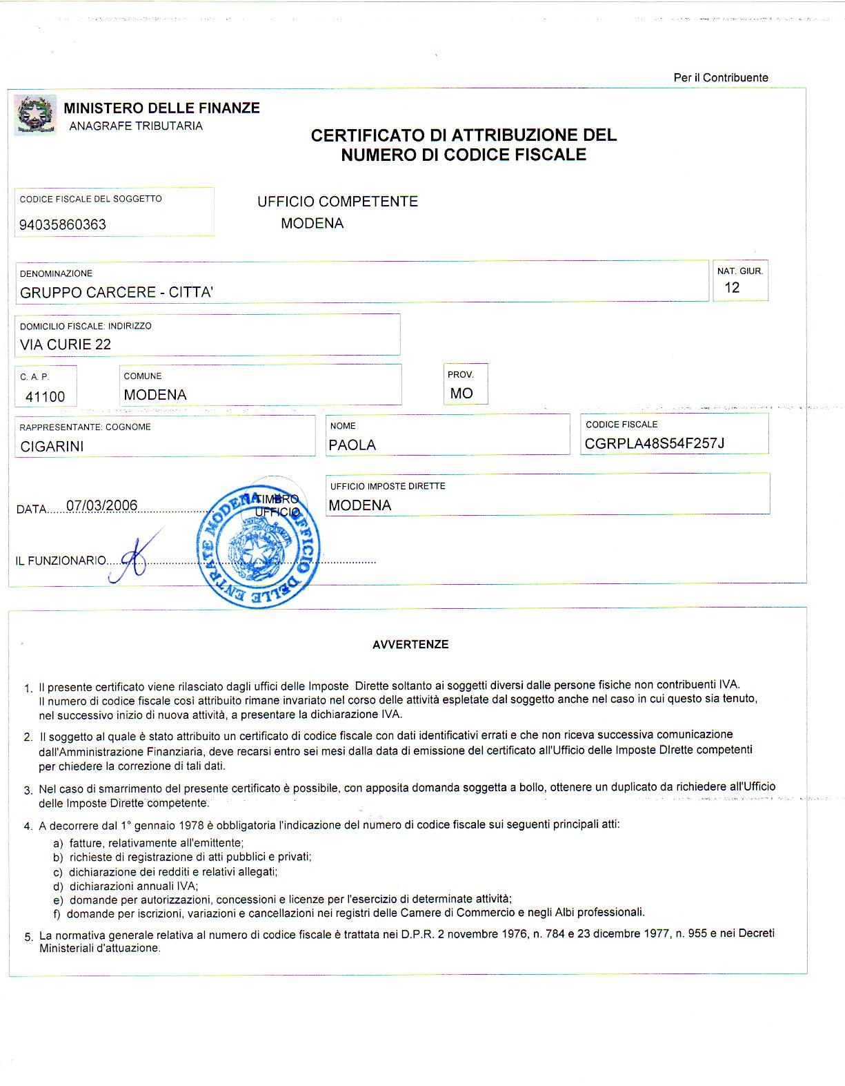 Living in italy getting a codice fiscale an american in for Numero di politici in italia
