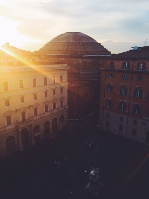 Sunset over the Pantheon in Rome