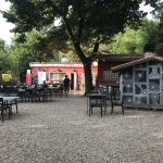 The Casetta Rossa garden restaurant in Rome