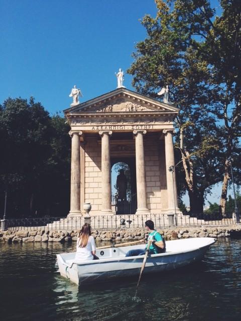 date lake villa borghese
