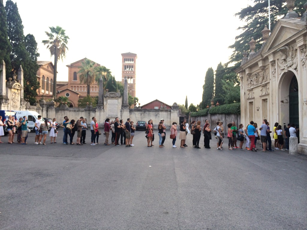 Line at Rome's keyhole