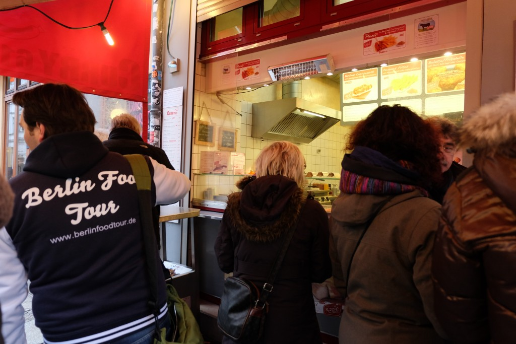 A curry wurst stand