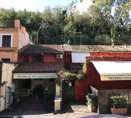 The outside of Flavio al Velavevodetto in Rome