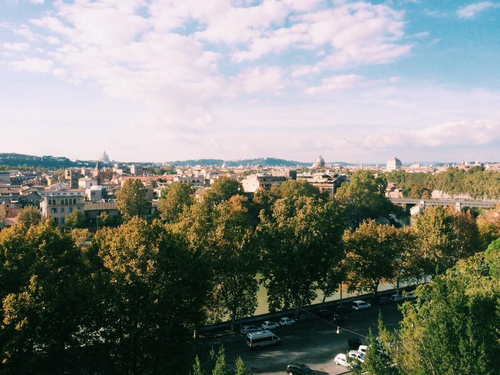 View from Rome's Orange Garden