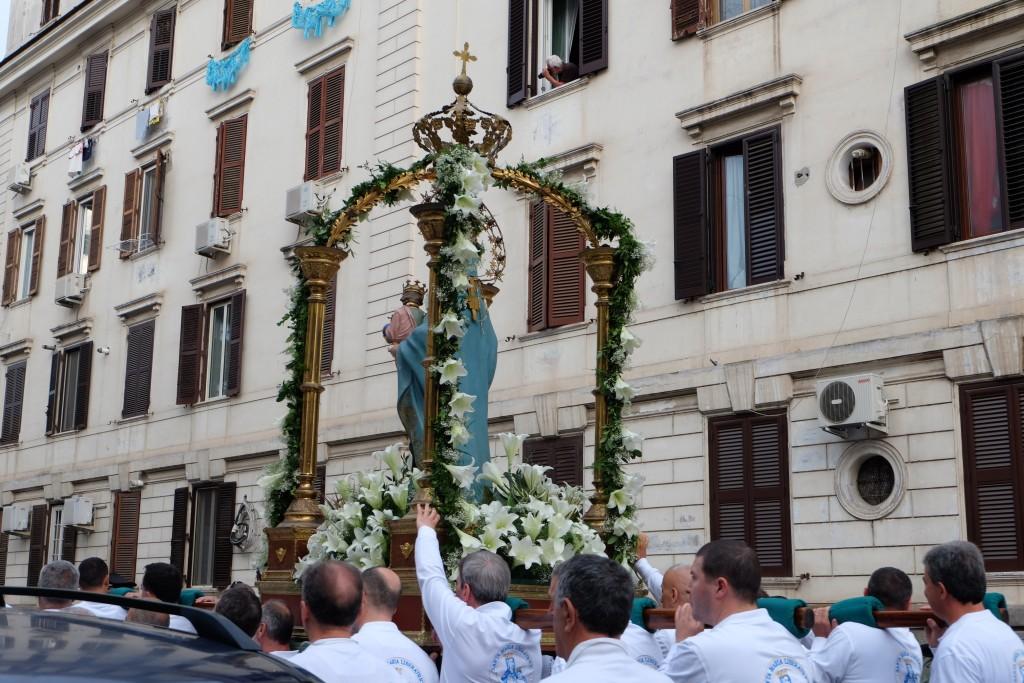 Religious procession in Rome