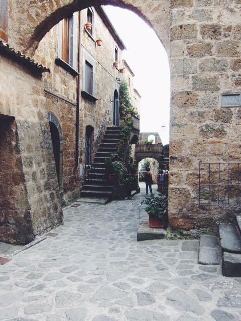 village of Bagnoregio lazio