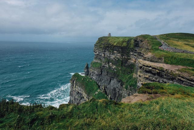 distant cliffs of moher