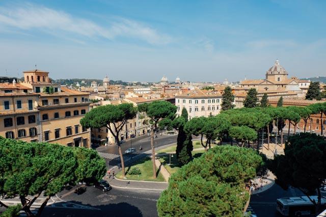 piazza venezia view