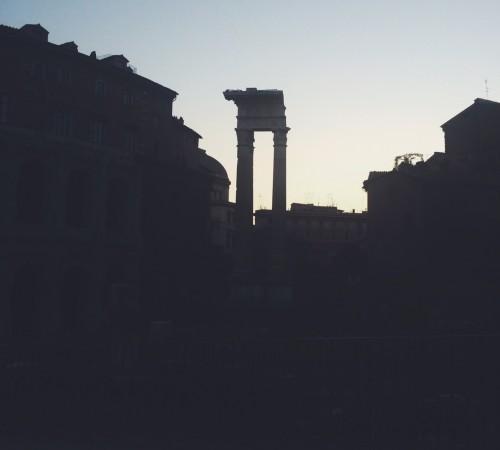sunset at teatro marcello