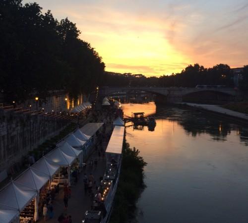 Tiber river bars summer rome