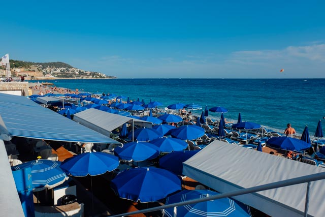 Nice France umbrellas