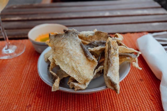 fried cod chips