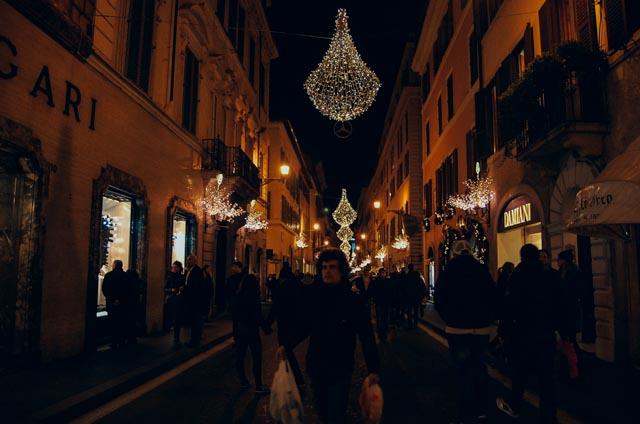 Via Condotti Christmas in Rome