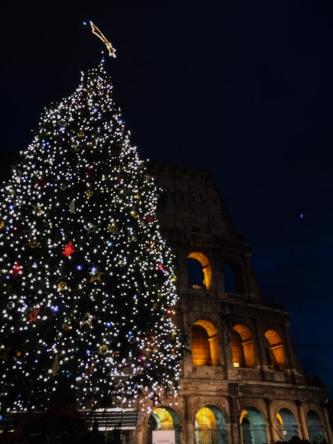 Christmas in Rome by the Colosseum