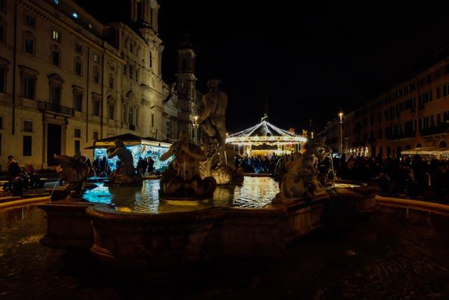 Piazza Navona at Christmas time