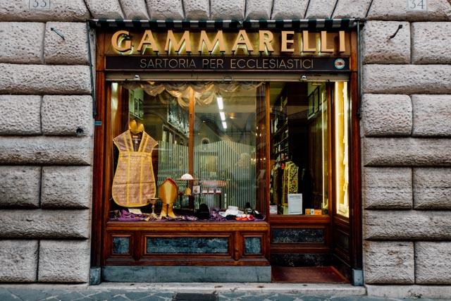 Gammarelli Pope Tailor