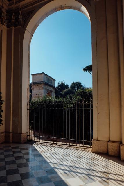 Arch of Titus from Santa Francesa Romana