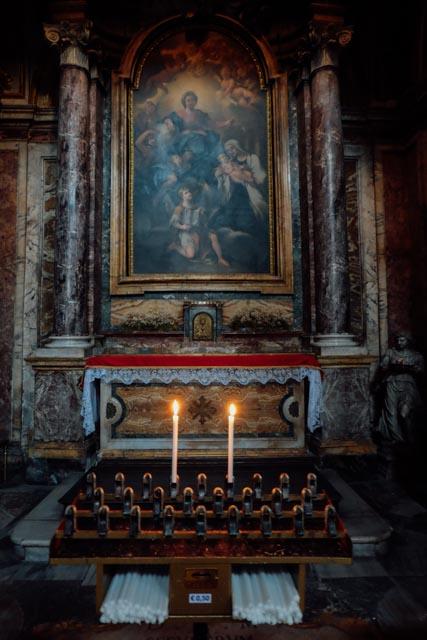 Altar in Santa Francesca Romana