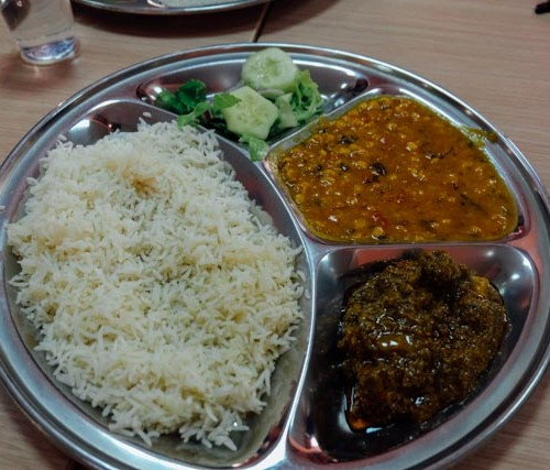 Indian food lunch special Rome