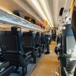 The inside of an Italian train as an example of what to expect from train travel in Italy