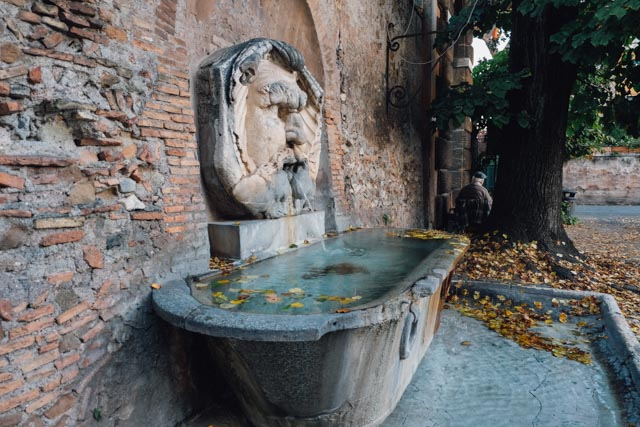 Autumn fountain Rome