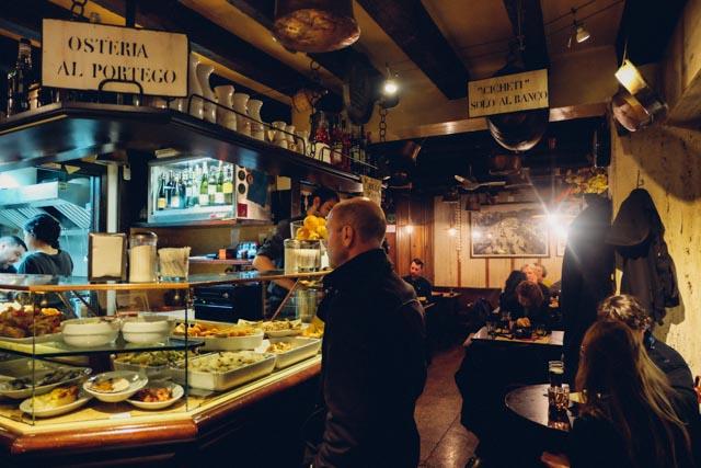 cicheti bar in Venice