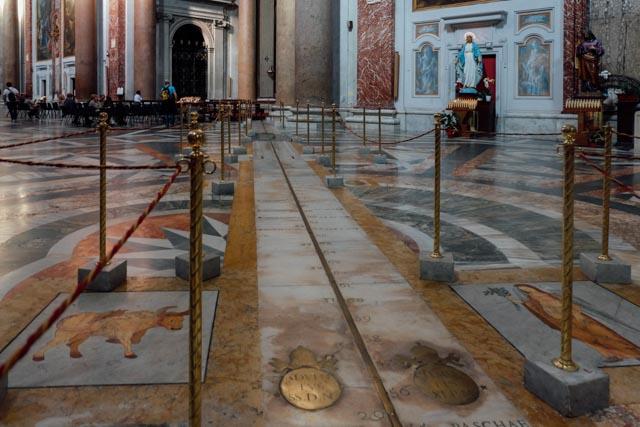 Meridian line at Santa Maria degli Angeli in Rome