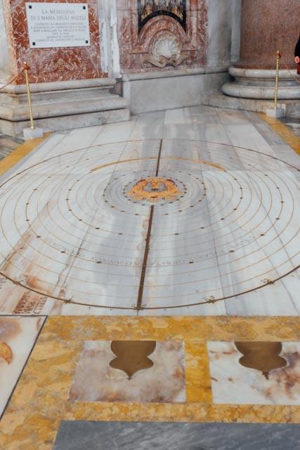 Meridian line in Rome