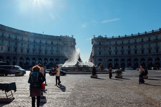 Piazza degli Repubblica Rome