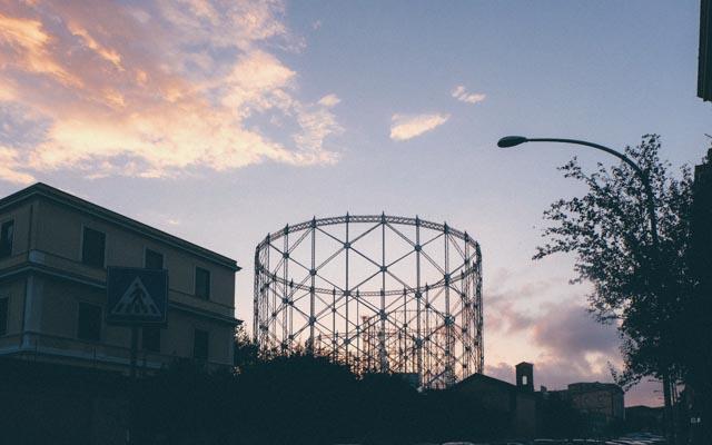 Rome's gas tower, the gasometro