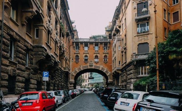 Unique Rome Architecture in Coppede