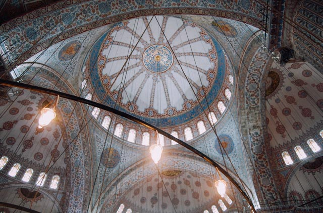 Light in the blue mosque