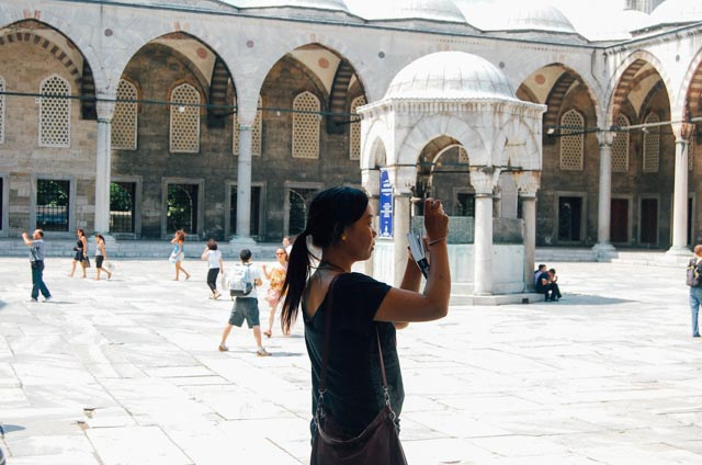 Michelle photographing Istanbul
