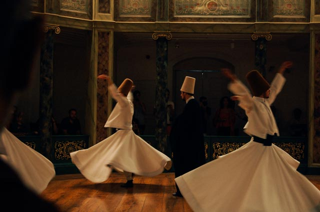 Watching whirling dervishes