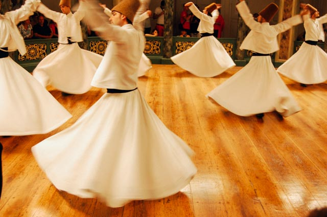 skirts of whirling dervishes