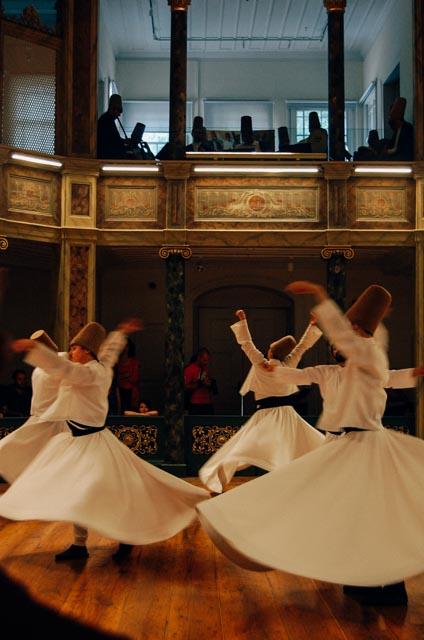Whirling dervish dance