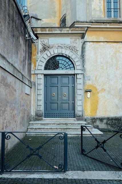 Door of the fontana dell'acqua paola