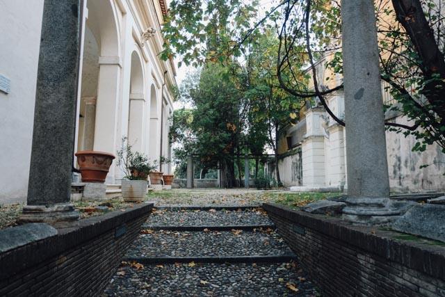 Behind the fontatone