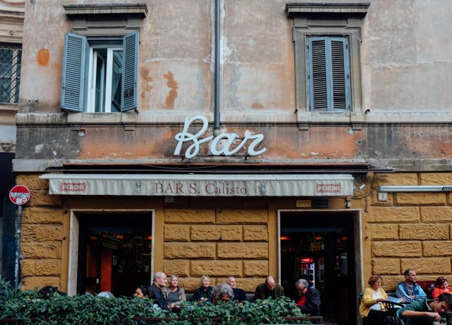 Bar San Calisto in Trastevere Temporarily Closed