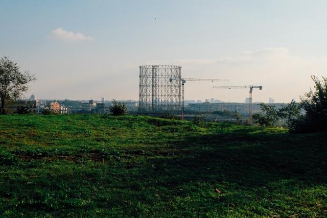 Gasometro from Monte dei cocci