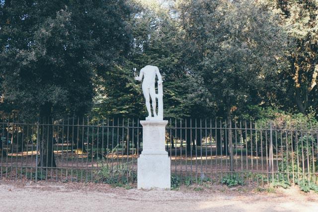 Statue in Roman park