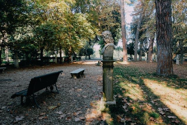 Statues in Villa Borghese
