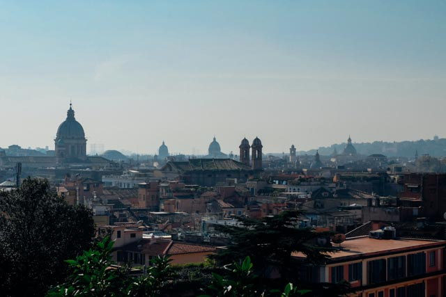 Views Of Rome From The Pincio Terrace An American In Rome