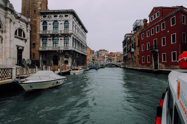 water bus on venice canal