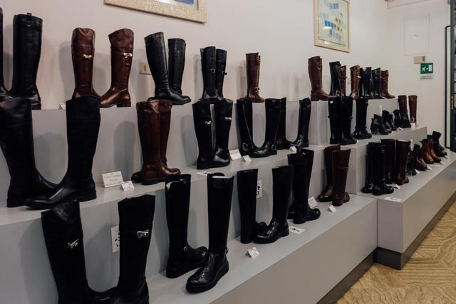 Santo leather boots Rome