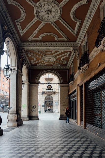 arched walkways torino